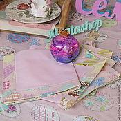 Для дома и интерьера ручной работы. Ярмарка Мастеров - ручная работа Льняная салфетка Розовое чаепитие. Handmade.