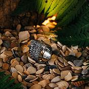 Перстень ручной работы. Ярмарка Мастеров - ручная работа Перстень Ворон литой из серебра. Handmade.