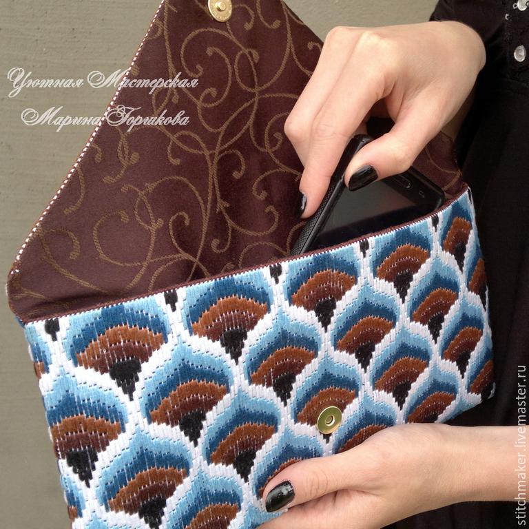 Вышивка барджелло сумочки