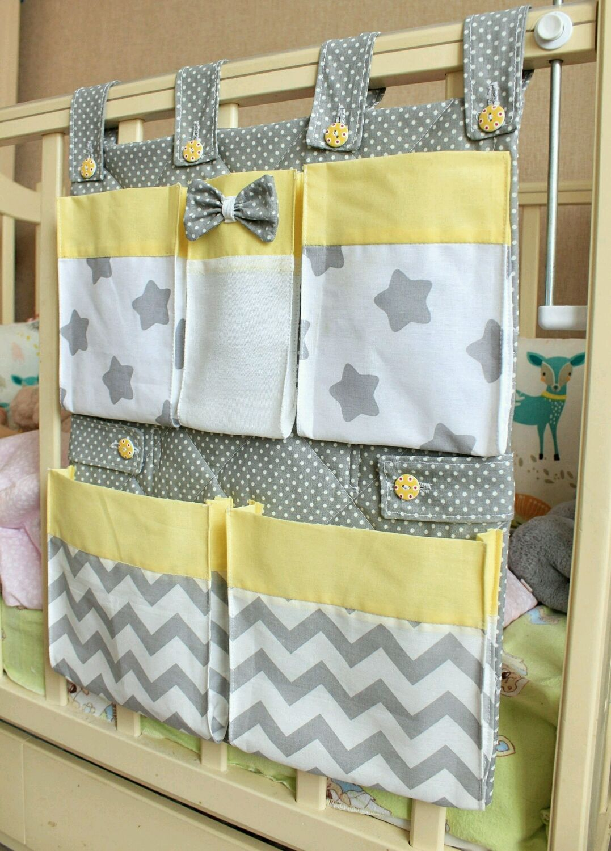 Карман для детской кроватки сшить своими руками фото 671
