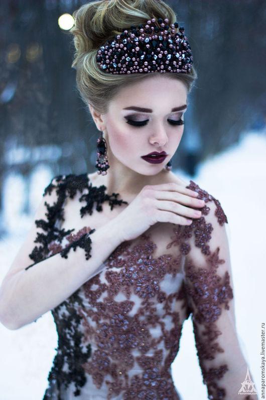 """Платья ручной работы. Ярмарка Мастеров - ручная работа. Купить Платье """"Aurora"""". Handmade. Комбинированный, платье для вечеринки, ободок, кружево"""