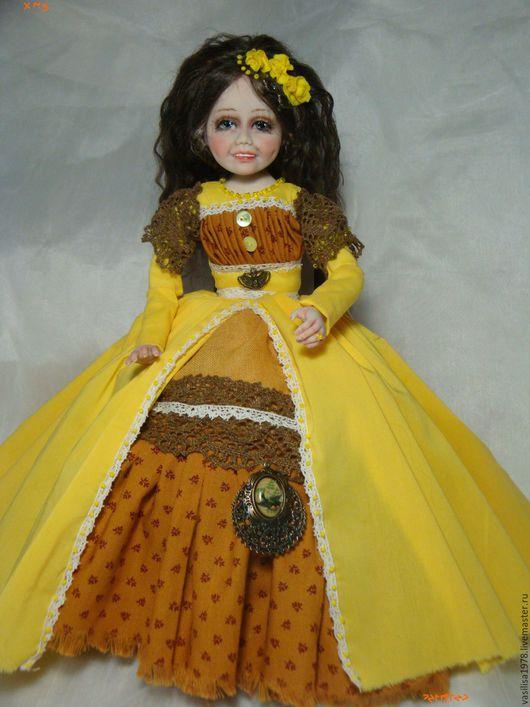 Коллекционные куклы ручной работы. Ярмарка Мастеров - ручная работа. Купить Фрейя. Handmade. Желтый, подарок на любой случай
