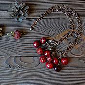 """Украшения ручной работы. Ярмарка Мастеров - ручная работа Колье лэмпворк """"Winter cherry"""". Handmade."""