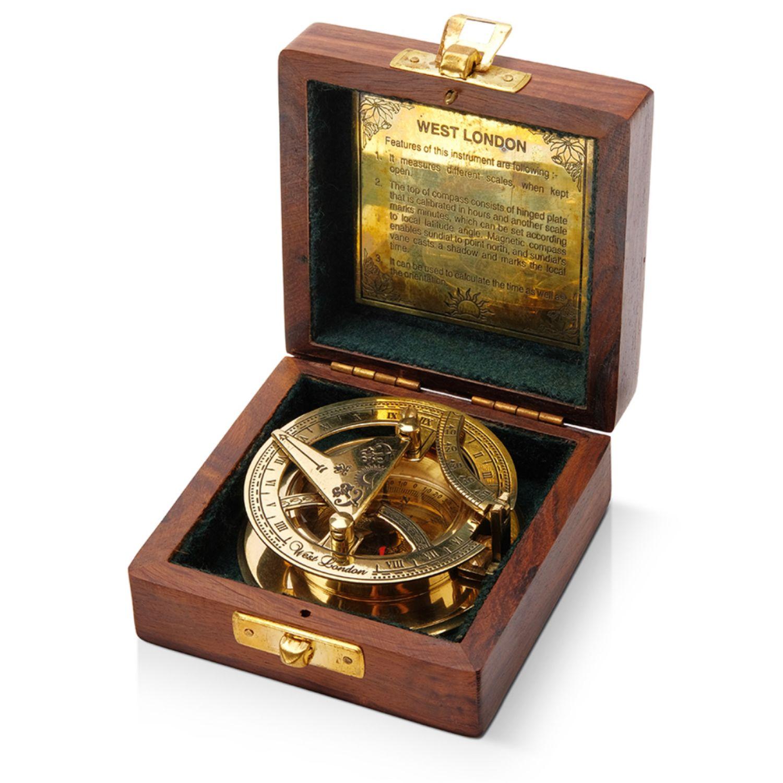 Компас латунный с солнечными часами, Именные сувениры, Москва,  Фото №1