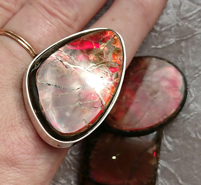 Кольцо с Аммолитом в серебре, Кольца, Тихвин,  Фото №1