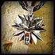 """Подарки для мужчин, ручной работы. Кулон """"Witcher 3"""" серебро 925. Крымская бронза. Интернет-магазин Ярмарка Мастеров. Ведьмак"""