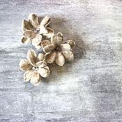 Украшения handmade. Livemaster - original item Set of felted daisies
