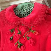 Работы для детей, ручной работы. Ярмарка Мастеров - ручная работа Платье Малиновый сорбет. Handmade.