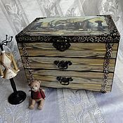 Для дома и интерьера handmade. Livemaster - original item Chest of drawers for needlewomen, decoupage. Handmade.