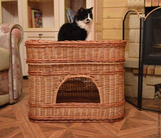 Аксессуары для кошек, ручной работы. Ярмарка Мастеров - ручная работа. Купить Дом для кошки. Handmade. Бежевый, лежанка для животных