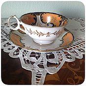 Винтажные сервизы ручной работы. Ярмарка Мастеров - ручная работа Английская редкая антикварная чайная пара. Handmade.
