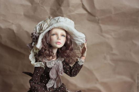 """Коллекционные куклы ручной работы. Ярмарка Мастеров - ручная работа. Купить Авторская шарнирная кукла """"Софи. Handmade. Коричневый"""