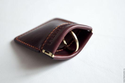 Кошельки и визитницы ручной работы. Ярмарка Мастеров - ручная работа. Купить Кошелек для мелочи чехольчик (coin wallet) из кожи Horween. Handmade.