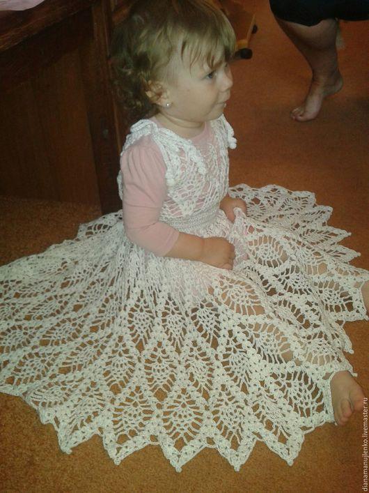 Одежда для девочек, ручной работы. Ярмарка Мастеров - ручная работа. Купить Белое облачко. Handmade. Летняя коллекция