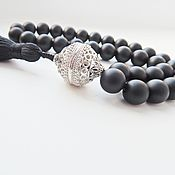 Фен-шуй и эзотерика handmade. Livemaster - original item Prayer beads Shungit with brush. Handmade.