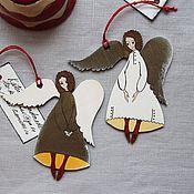 Для дома и интерьера ручной работы. Ярмарка Мастеров - ручная работа Ангелы в красных носочках. Handmade.