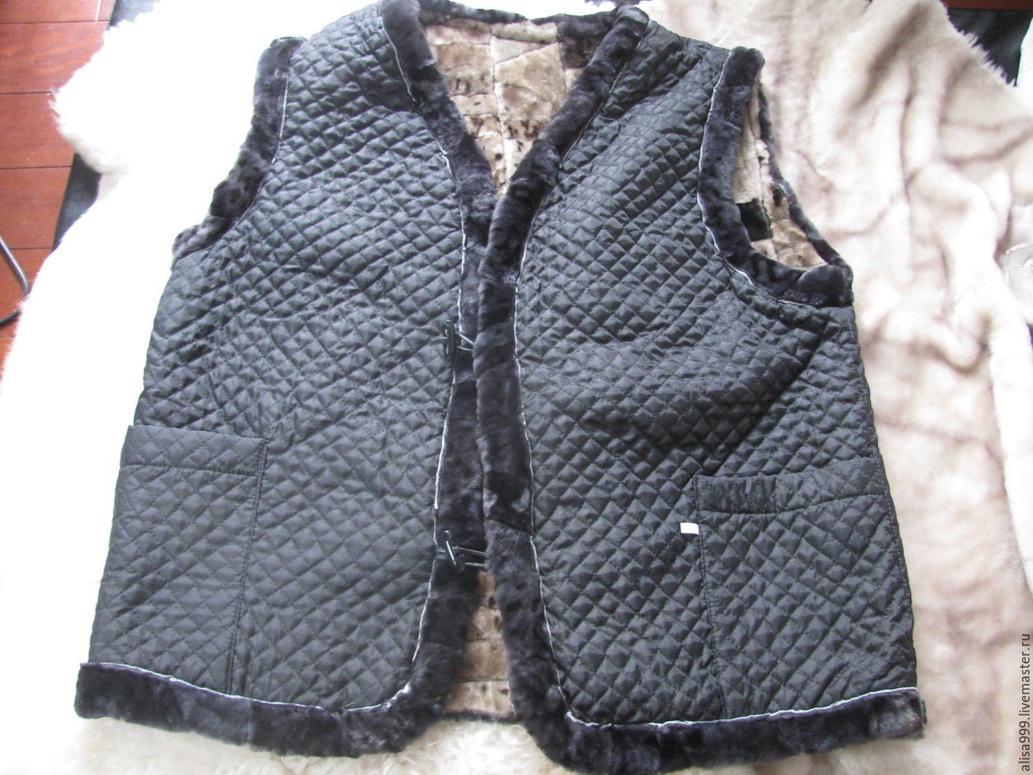 9ae73ebfda40 Vests handmade. Livemaster - handmade. Buy Men s vests made of sheepskin(Mouton)  ...