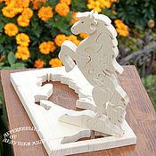 Stuffed Toys handmade. Livemaster - original item Wooden toys. Puzzle Horse