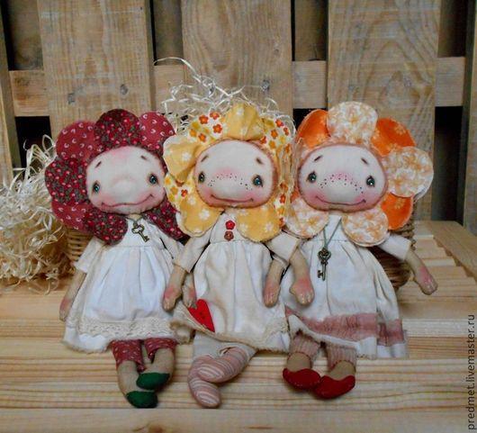 Коллекционные куклы ручной работы. Ярмарка Мастеров - ручная работа. Купить Во саду ли в огороде.... Handmade. Текстильная кукла