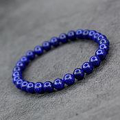 Украшения handmade. Livemaster - original item Bracelet natural blue lapis lazuli. Handmade.