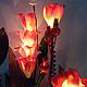 """Освещение ручной работы. Ярмарка Мастеров - ручная работа. Купить Букет-светильник  """"Мальва"""". Handmade. Фуксия, освещение, необычный подарок"""