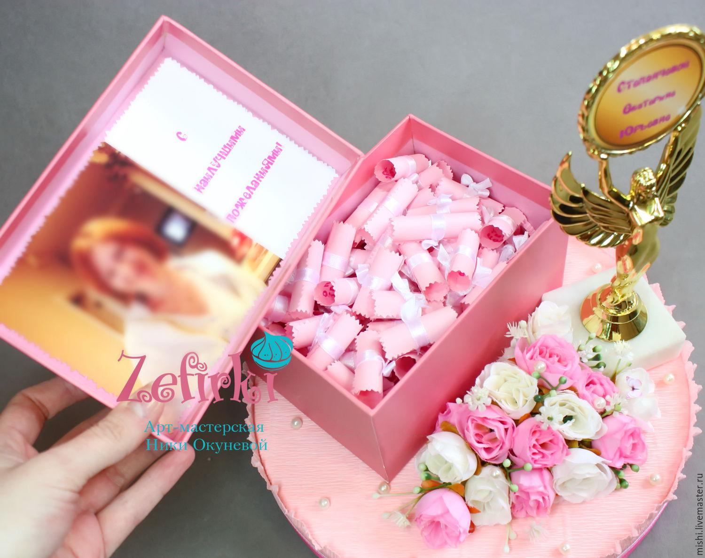 Подарок в коробочках пожелания 772