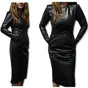 Одежда handmade. Livemaster - original item Leather Dress. Handmade.