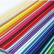 Материалы для творчества ручной работы. Ярмарка Мастеров - ручная работа Набор жесткого фетра 62 цвета (Корея). Handmade.