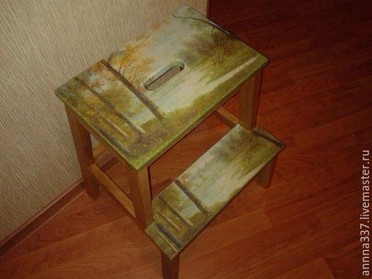 """Мебель ручной работы. Ярмарка Мастеров - ручная работа. Купить Табурет стремянка """" Берег надежды"""". Handmade. Комбинированный, лесенка"""