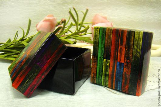 Упаковка ручной работы. Ярмарка Мастеров - ручная работа. Купить Коробочка-бонбоньерка. Handmade. Разноцветный, коробка, бонбоньерки