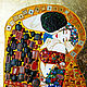 Painting of the semi-precious stones Gustav Klimt The Kiss. Pictures. House of Sun. Artist Irina Bast. Online shopping on My Livemaster.  Фото №2