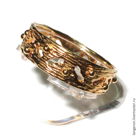 """Кольца ручной работы. Ярмарка Мастеров - ручная работа. Купить Серебряное кольцо """"Корона"""". Позолоченное серебро 925 пробы.. Handmade."""