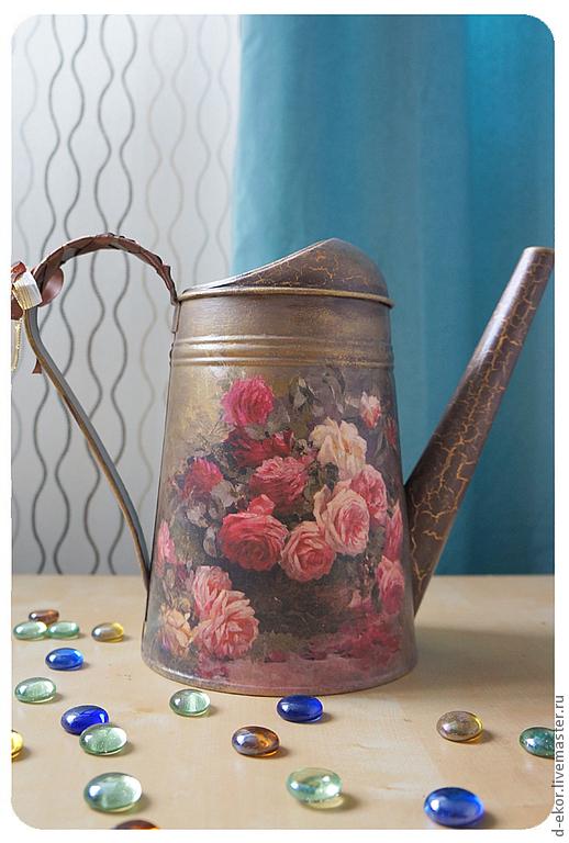 """Лейки ручной работы. Ярмарка Мастеров - ручная работа. Купить Лейка """"Царские розы"""". Handmade. Лейка, подарок, кракелюрные лаки"""