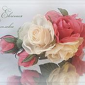 Украшения ручной работы. Ярмарка Мастеров - ручная работа Ободок с цветами Розы. Handmade.