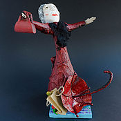 """Куклы и пупсы ручной работы. Ярмарка Мастеров - ручная работа Коллекционная кукла из папье-маше-""""Женщина с зонтом"""". Handmade."""
