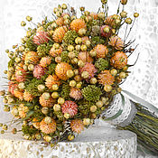 Цветы и флористика ручной работы. Ярмарка Мастеров - ручная работа «Яблочный» букет из сухоцветов. Handmade.