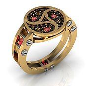 Украшения handmade. Livemaster - original item Ring BDSM Triskel ` gold rubies diamonds. Handmade.