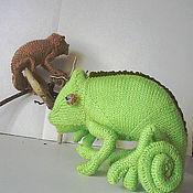 """Мягкие игрушки ручной работы. Ярмарка Мастеров - ручная работа игрушка   """"Семейство хамелеончиков"""". Handmade."""