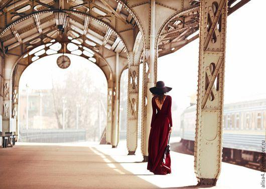 Платья ручной работы. Ярмарка Мастеров - ручная работа. Купить платье трикотажное. Handmade. Платье, в пол, женственность, богемный стиль