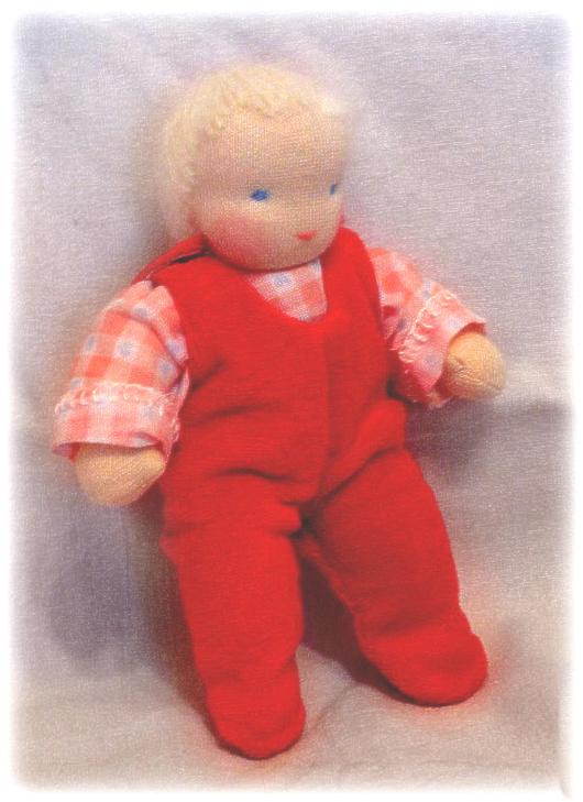 Вальдорфская игрушка ручной работы. Ярмарка Мастеров - ручная работа. Купить кукла-младенец  (на пуговичках)13-15см. Handmade. хлопок