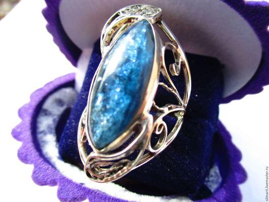 кольцо `Морская романтика` цена 3800 кианит натуральный
