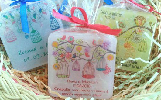 Подарки на свадьбу ручной работы. Ярмарка Мастеров - ручная работа. Купить Свадебное мыло ручной работы на подарки гостям. Handmade.
