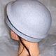 """Шляпы ручной работы. Шляпка валяная """" Gray """". Горбунова Оксана   «EVOLET». Интернет-магазин Ярмарка Мастеров. Однотонный"""