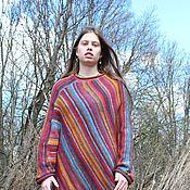 Одежда ручной работы. Ярмарка Мастеров - ручная работа Пончо Indian summer-2. Handmade.