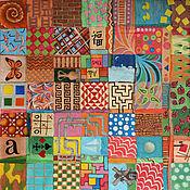 Картины и панно ручной работы. Ярмарка Мастеров - ручная работа Картина маслом Лоскутное одеяло. Handmade.
