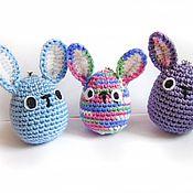 Куклы и игрушки ручной работы. Ярмарка Мастеров - ручная работа амигуруми Пасхальные кролики. Handmade.