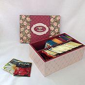 """Шкатулки ручной работы. Ярмарка Мастеров - ручная работа """"Бордо"""" Шкатулка для чайных пакетиков. Handmade."""