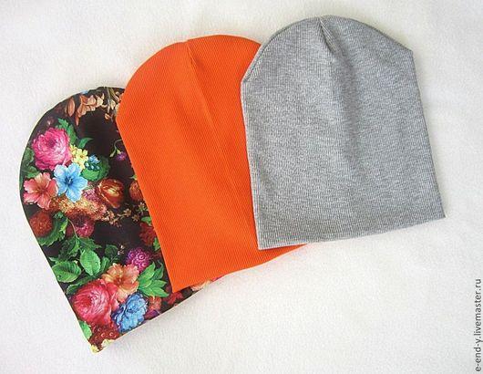 Шапки ручной работы. Ярмарка Мастеров - ручная работа. Купить Трикотажные шапки.. Handmade. Разноцветный, шапка, трикотажная шапка