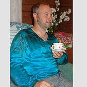 Мужская рубашка из натурального шелка атласа на заказ любой размер