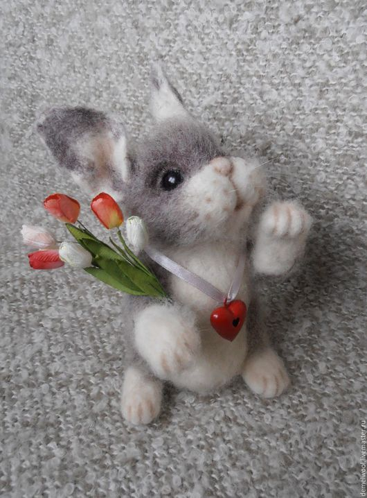 Игрушки животные, ручной работы. Ярмарка Мастеров - ручная работа. Купить Кролик Валентин.. Handmade. Кролик, святой валентин, игрушка